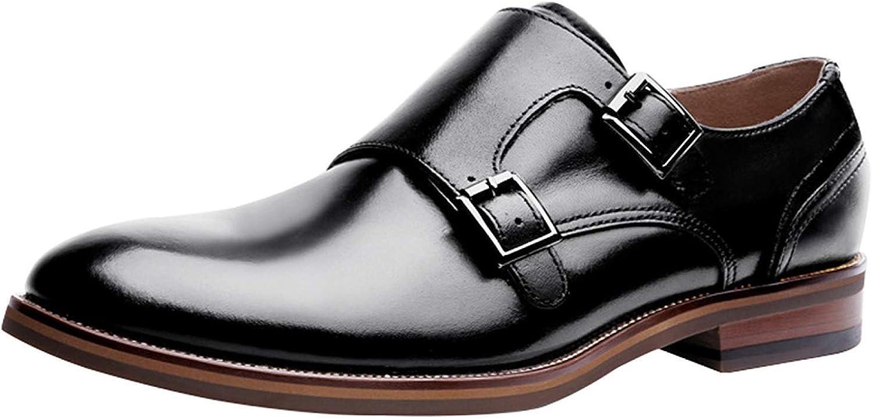 Oudan Mens Mengke Schuhe Business Casual Schuhe Hochzeit Schuhe Schwarz Braun Mode Bequem (Farbe   Schwarz, Gre   43EU)