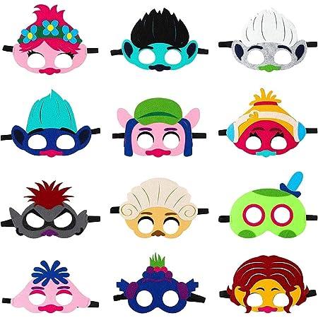 Máscara de Trolls para niños, Trolls World Tour Máscara de ...
