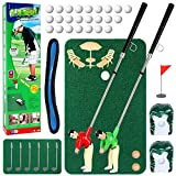 Wassteel Golf Toys for Kids and Adults, Retirement Gift Two Mini Golfers Indoor or Outdoor Golf Kit Game,Golf Course Set, Complete Mini Golf for Home, Easy to Set Up and Play Portable Mini Golf Course