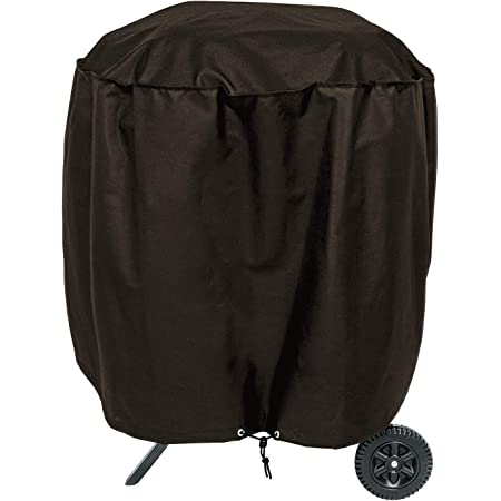 """True Guard Grill Cover Heavy Duty Waterproof - Charcoal Kettle Grill Cover, Fits Dome, Square, & Ceramic Grills, 30"""" 600D Rip-Stop, Fade/Stain/UV Resistant, Dark Brown Outdoor BBQ Grill Cover"""