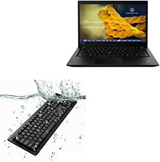 BoxWave®-toetsenbord voor Lenovo ThinkPad T14s (14 inch) [AquaProof USB-toetsenbord] wasbaar waterdicht waterbestendig US...