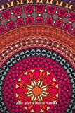 2020 - 2021 18 Month Planner: Big Colorful Mandala | Peaceful Abstract Color Design | Daily Organizer Calendar Agenda | 6x9 | Work, Travel, School ... Blank Notes Birthday Anniversary Reminder