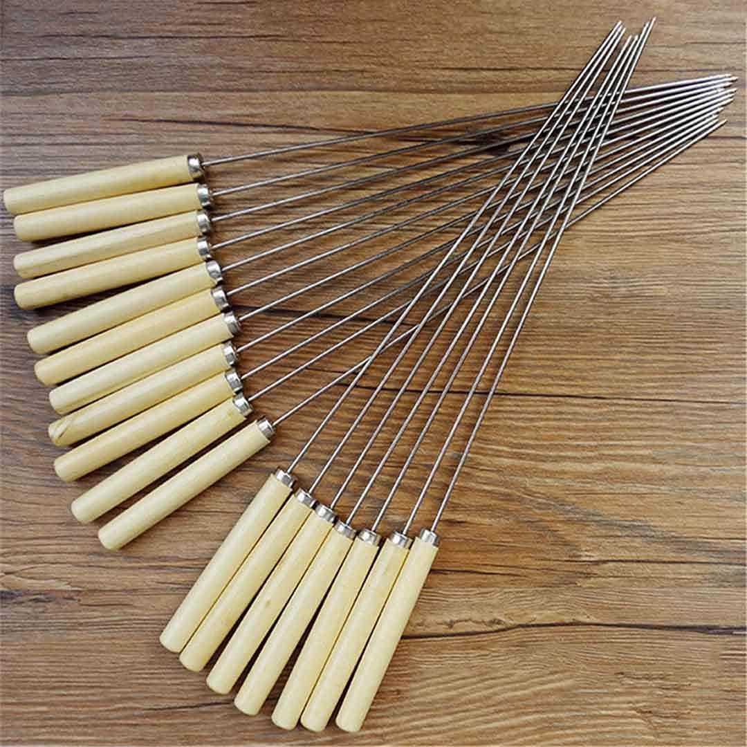 XYSQWZ 10Pcs Outdoor At the price Picnic BBQ Barbecue New item Stai Skewer Stick Roast