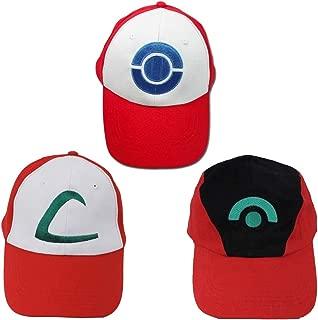 TinyBox Ash Ketchum Hat Cap Set for Adult 3 Styles