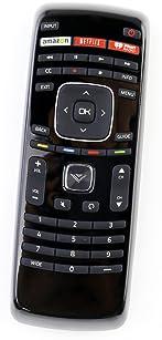 XRT112 Remote Control fit for Vizio Smart Internet LED TV with Netflix/iHeart Radio APP Keys