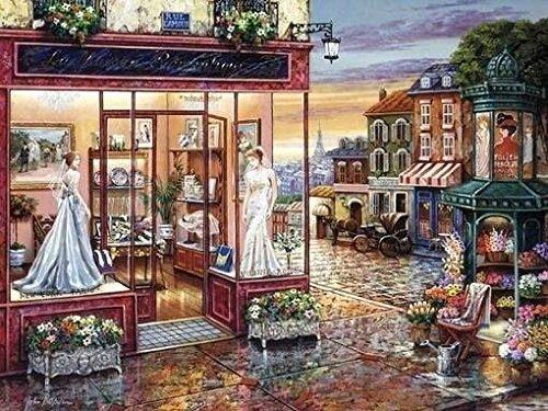 La robe de mariée boutique kit de point de croix 14 ct 400*297point 82 x 64 cm kit de broderie au point de croix