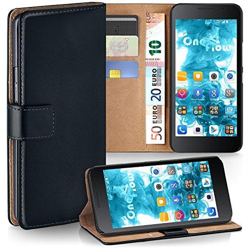 MoEx® Funda Cartera [protección 360°] Compatible con Huawei Honor 6 | Cierre magnético, Noir