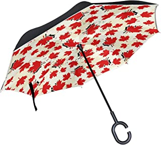 Christian Bible Verses Inverted Umbrella with Light Reflection Strip, Double Layer Car Reverse Umbrella, Auto-Open Self-Standing Umbrella with C-Shape Handle