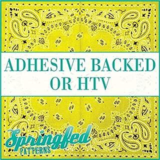 Yellow BANDANA Pattern Heat Transfer or Adhesive Vinyl CHOOSE YOUR SIZE! Bandanna