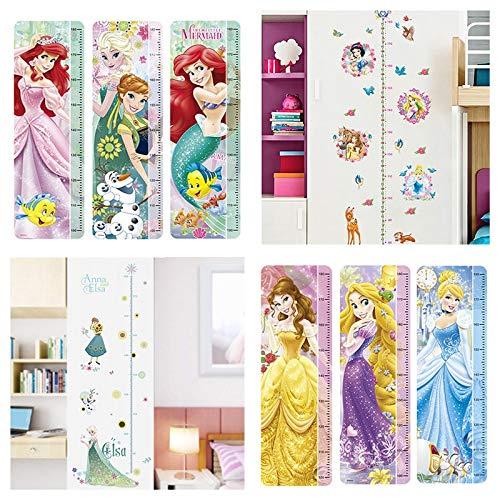 disney prinses hoogte maat muurstickers voor kinderen kamers thuis decor sneeuw wit anna Elsa groeikaart muurstickers behang