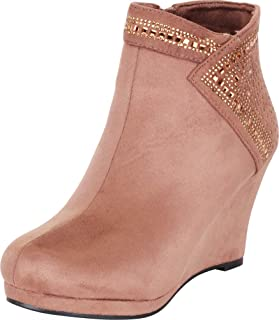 Cambridge Select Women's Crystal Rhinestone Platform Wedge Ankle Bootie