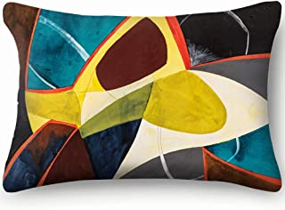 X-Large Modernist Watercolor Painting Decor Pillowcase Soft Zippered Throw Pillow Cover Cushion Case Two Sided Printed Queen 20 X 36 Inch