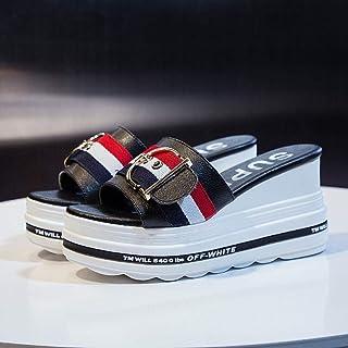Top Unisex-Adult Flip Flops,Thick-soled beach shoes, massage slippers-black_34,Ergonomic Flip-Flops Toe Thong Sandals fang...
