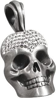 Kalodae Studded Skull Necklace Pendant with Swarovski Crystals