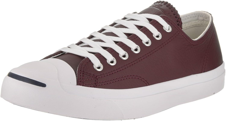 Converse Unisex Jack Purcell Jack Ox Deep Bordeaux Buff White Casual shoes 8 Men US   9.5 Women US