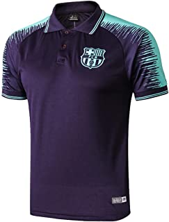 Barcelona FC Soccer Polo Shirt for Mens Crest Club Shirt Blue
