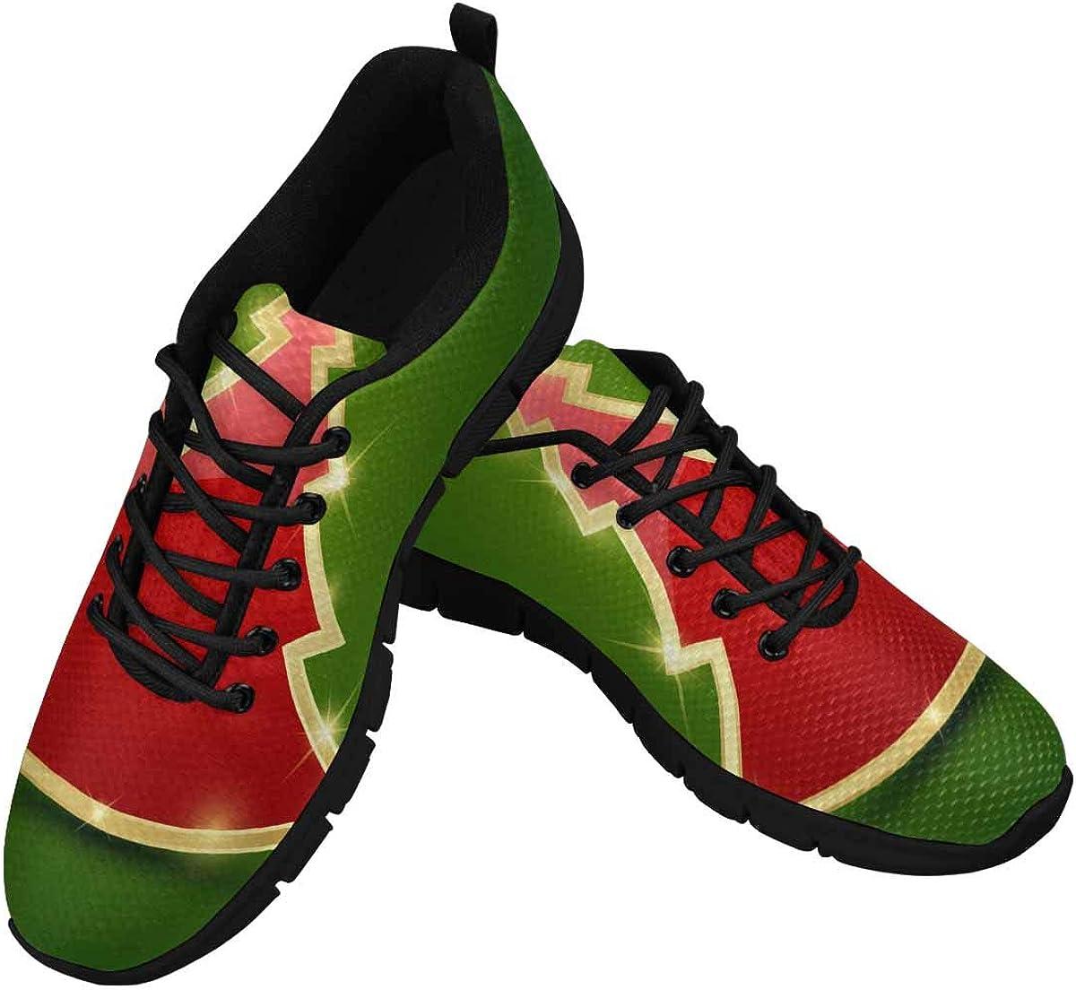 INTERESTPRINT Glossy Christmas Tree Women's Breathable Sneaker