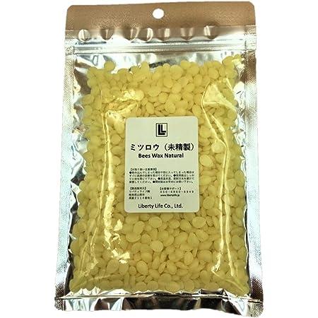 リバティライフ 蜜蝋 未精製 ミツロウ ビーズワックス… (100g)