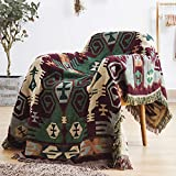 ARIESDY Manta acolchada bohemia, de algodón étnico indio, reversible, tapiz, colcha impresa, colcha de sofá, colcha de punto de patchwork, 230 x 250 cm, flor de tortuga