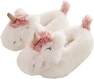 HALLUCI Kid's Cozy Fleece Memory Foam House Trick or Treat Halloween Slippers
