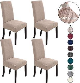 Jqinhome 4 Pcs Dining Chair Slipcover