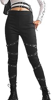 Leggings Hip-Hop alla Moda da Donna Pantaloni Steampunk gotici Pantaloni Sportivi da Trekking da Equitazione