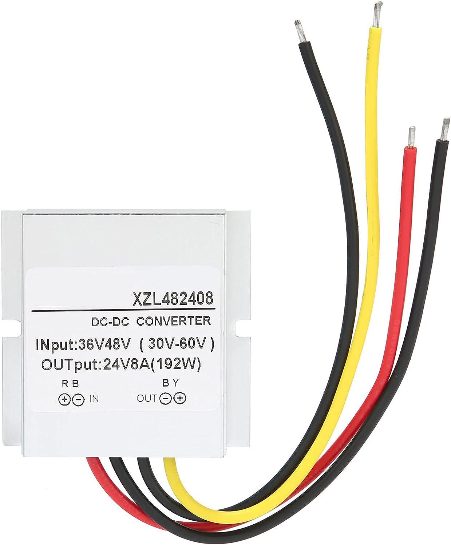 Converter DC‑DC Power Voltage Transformer 48V to 12V 8A 192W with Medium Aluminum Shell Power Converter DC Voltage Regulator Voltage Reducer Power Supply