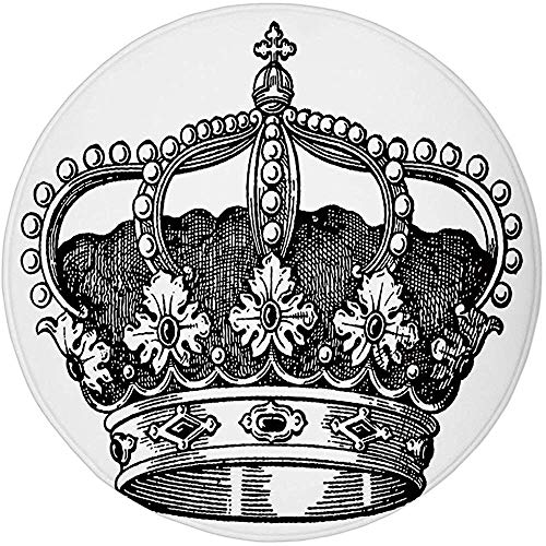 W-WEE Alfombra Redonda Tapete Alfombra, Reina, Antiguo Reino de la Corona Real...