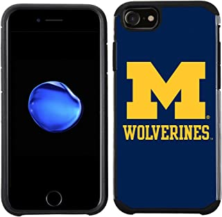 Prime Brands Group Textured Team Color Cell Phone Case for Apple iPhone 8/7/6S/6 - NCAA Licensed University of Michigan Wolverines