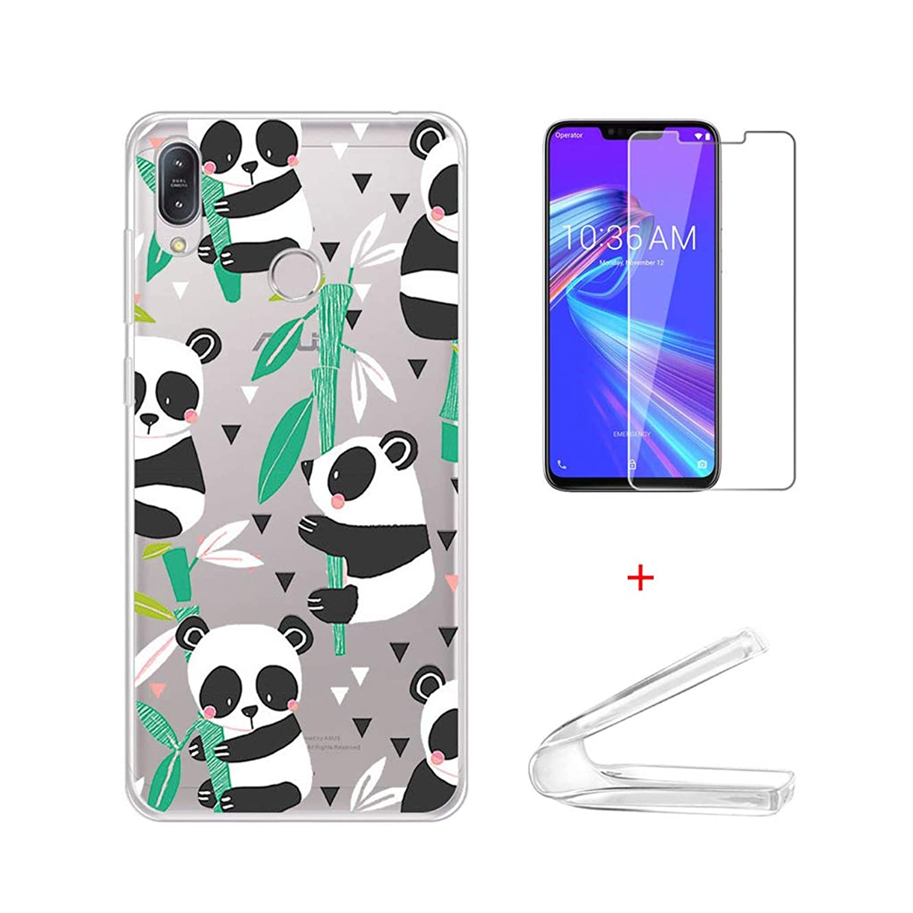 HYMY Case Cover Tempered Film for Asus Zenfone Max (M2) ZB633KL (6.3