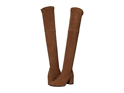 Stuart Weitzman Tieland Over the Knee Boot (Coffee Suede Stretch) Women