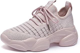 Willsky Chaussures De Course pour Femme, Baskets D'entraînement Sportif Chaussures De Gymnastique pour La Marche Chunky Ab...