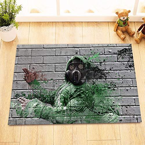 NFGFD Gasmaske Mann Graffiti Schlafzimmer, Küche, Wohnzimmer, WC, Treppe, Ecke, Badzubehör
