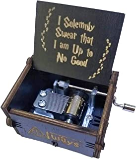 Caja de música de Harry Potter hecha a mano clásica pura Caja de música de madera hecha a mano Artesanías de madera creativas Los mejores regalos