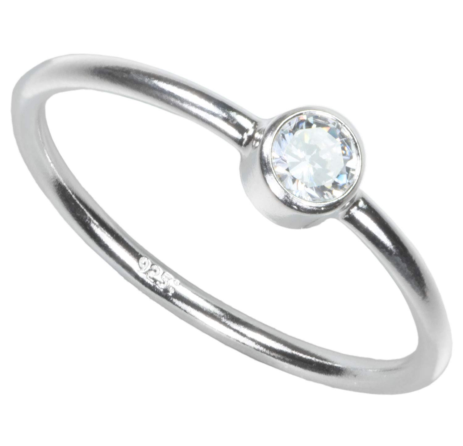 F/&F jewel Classic Flower Blue Zircon Ring Vintage Jewelry for Women Wedding Engagement Rings