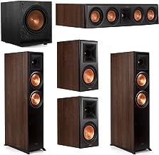 Klipsch 5.1 Walnut System 2 RP-6000F Floorstanding Speakers, 1 Klipsch RP-404C Center Speaker, 2 Klipsch RP-600M Surround Speakers, 1 Klipsch SPL-120 Subwoofer