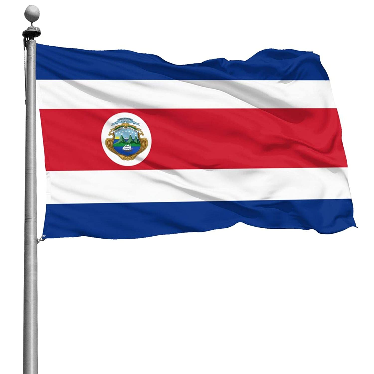 Costa Rica Flag 4x6 Ft Parade Flag Vivid Color Home Flag Outdoor Banner Uv Fade Resistant Garden Flag For Dorm Room Parties Decor Indoor And Outdoor Use(Not Include Pole)