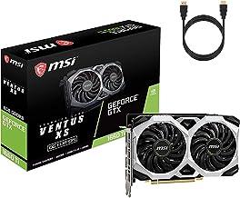 MSI NVIDIA GeForce GTX 1660 Ti Ventus XS VR Ready OC Graphics Card TORX Fan 2.0 6GB GDDR6 HDCP Support DirectX 12 NVIDIA ...