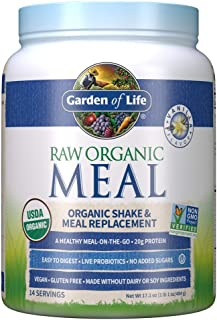Garden of Life Raw Organic Meal Replacement Powder - Vanilla, 14 Servings, 20g Plant Based Protein Powder, Superfoods, Gre...