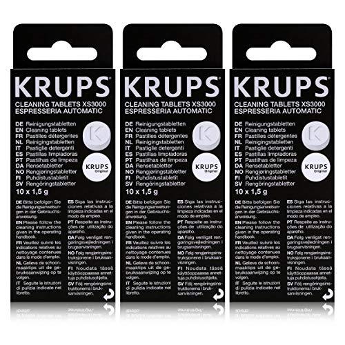 3x Krups reinigingstabletten XS 3000 (10 stuks).