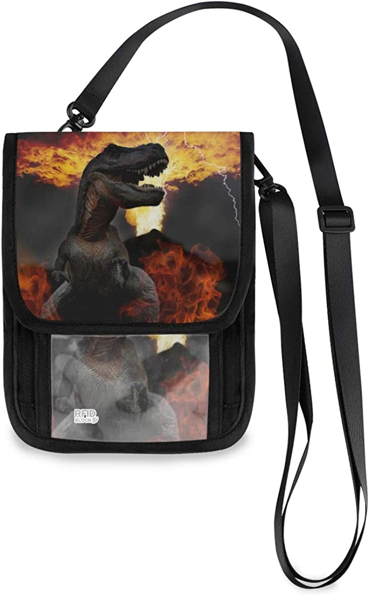 RFID Blocking Travel Neck Japan Maker New Wallet Colorado Springs Mall - Pa Dinosaurs Of World The End
