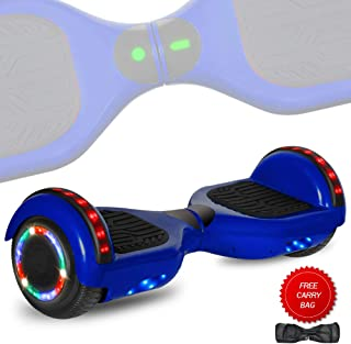 TechClic Spider Electric Hoverboard with Built-in Speaker and LED Side Lights Wheels self Balancing Scooter Dual Motors Hover Board UL2272 Certified
