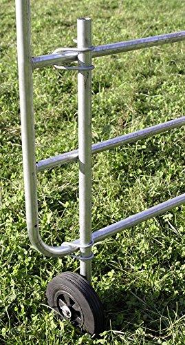 Kerbl Stützrad für verstellbare Weidetore Vollgummirad Ø 200 mm feuerverzinkte Stahlteile