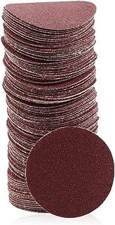 SPEEDWOX 木工用サンドペーパー サンディングペーパー #80 100枚 50mm マジック式 丸型 穴なし 紙やすり サンディングディスク 研磨