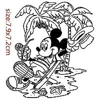 ミッケマウス透明シリコーンゴムスタンプシートしがみつくスクラップブッキングDIYかわいいパターンフォトアルバムPaperCard装飾図