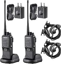 SAMCOM FPEN10A 20 Channels 2 Way Radio with Group Function, UHF Long Range Handheld Walkie Talkie 2 Watts (2 Packs,Black)
