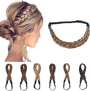 Braided Headband Plaited Hair Band Chunky Braided Headband Elastic Stretch Braid Hairband Wide Plaited Braids Synthetic Ha...