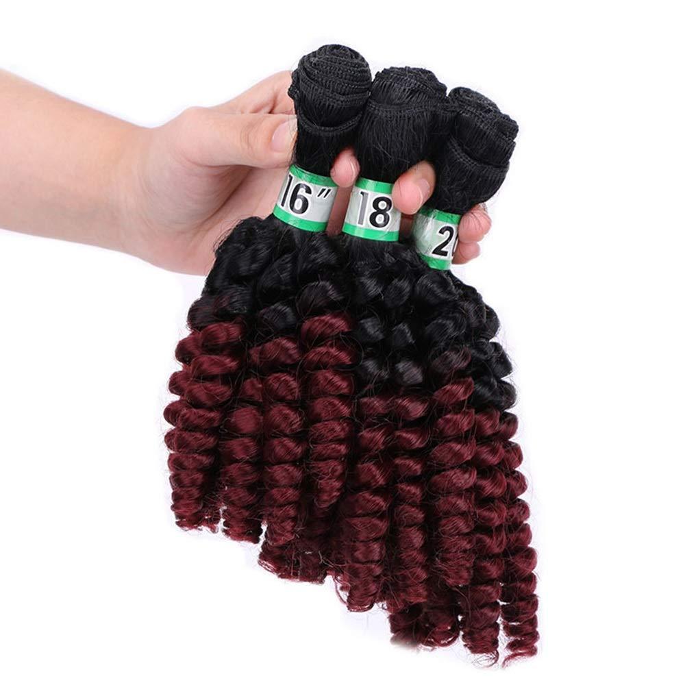 BIN--Hairpieces Postizos Cabello sintético Rizado de Fashian ...