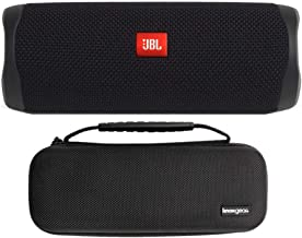 $119 » Knox Gear JBL Flip 5 Portable Waterproof Bluetooth Speaker (Midnight Black) Hardshell Travel and Protective Case Bundle (2...