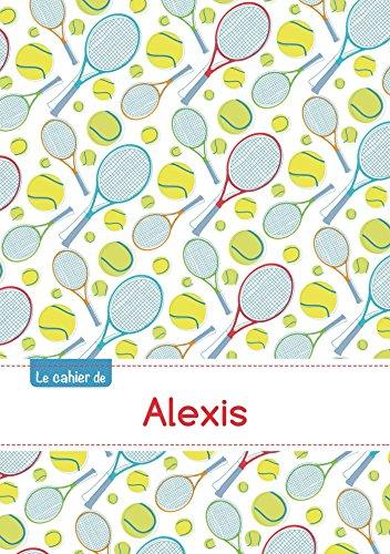 Le cahier d'Alexis - Blanc, 96p, A5 - Tennis